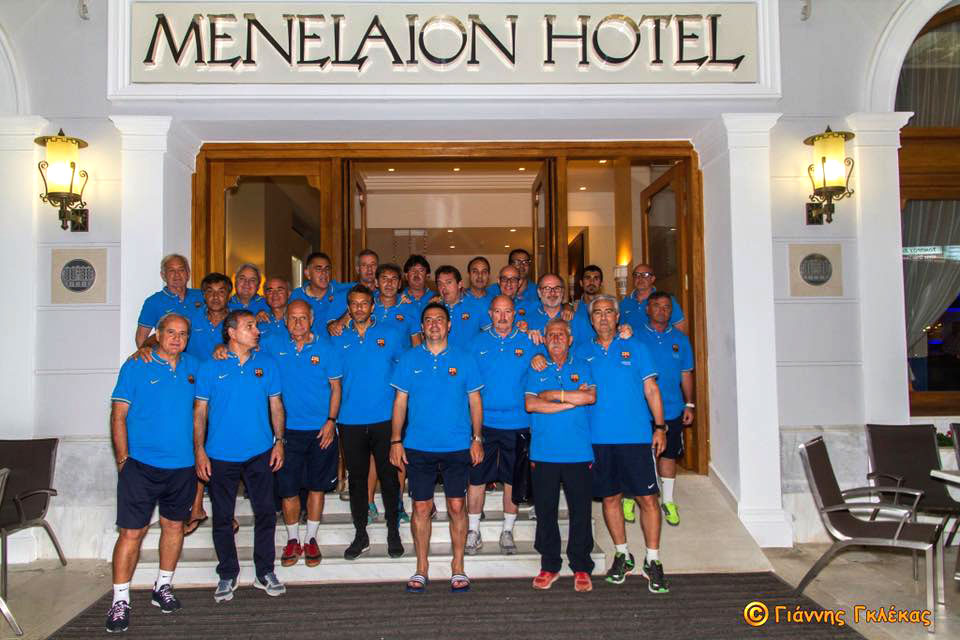 barcelona fc team at menelaion hotel, sparti